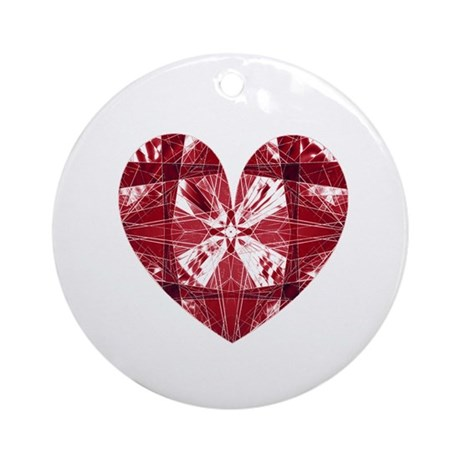 Kaleidoscope Heart Ornament (Round)
