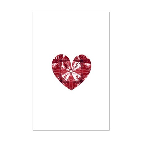 Kaleidoscope Heart Mini Poster Print