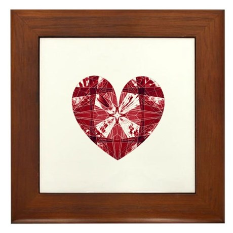 Kaleidoscope Heart Framed Tile