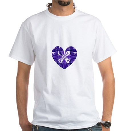 Kaleidoscope Heart White T-Shirt