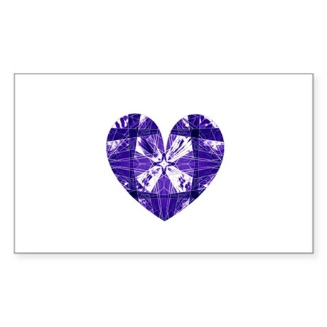 Kaleidoscope Heart Rectangle Sticker