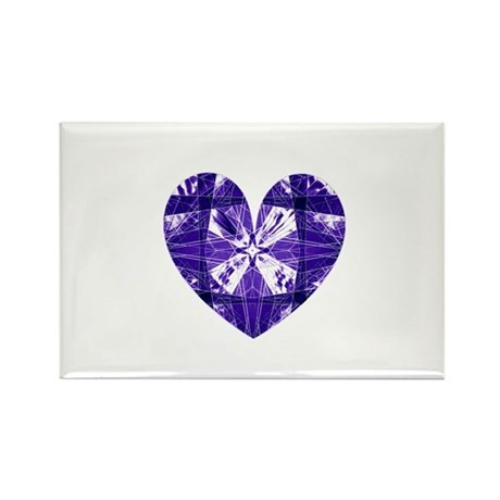 Kaleidoscope Heart Rectangle Magnet (100 pack)