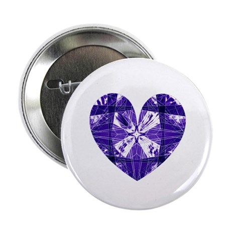 "Kaleidoscope Heart 2.25"" Button (100 pack)"