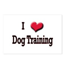 I Love (Heart) Dog Training Postcards (Package of
