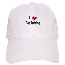 I Love (Heart) Dog Training Baseball Cap