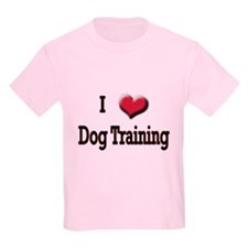 I Love (Heart) Dog Training T-Shirt