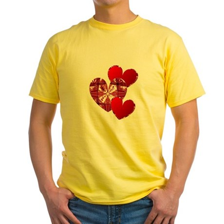 Country Hearts Yellow T-Shirt