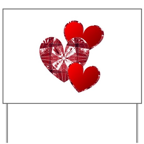 Country Hearts Yard Sign