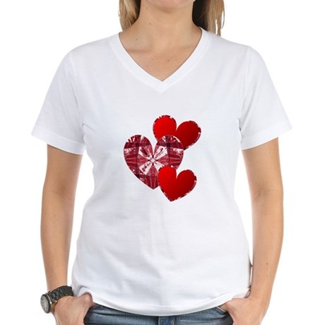 Country Hearts Women's V-Neck T-Shirt