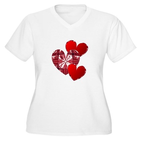 Country Hearts Women's Plus Size V-Neck T-Shirt