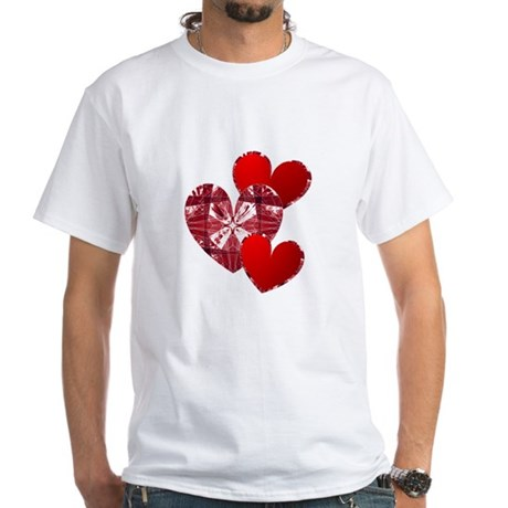 Country Hearts White T-Shirt