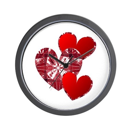 Country Hearts Wall Clock