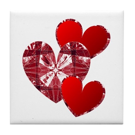 Country Hearts Tile Coaster