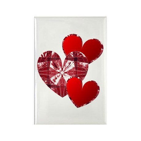 Country Hearts Rectangle Magnet