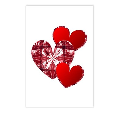 Country Hearts Postcards (Package of 8)