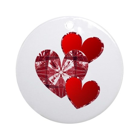 Country Hearts Ornament (Round)
