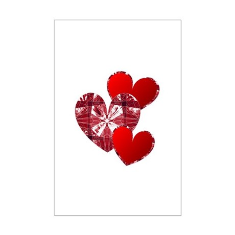 Country Hearts Mini Poster Print