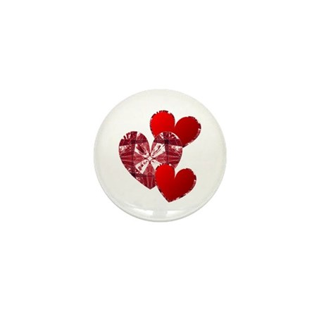 Country Hearts Mini Button (100 pack)