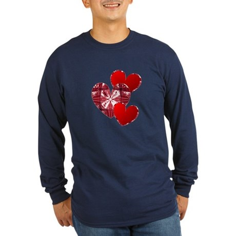 Country Hearts Long Sleeve Dark T-Shirt