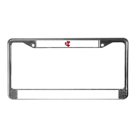 Country Hearts License Plate Frame