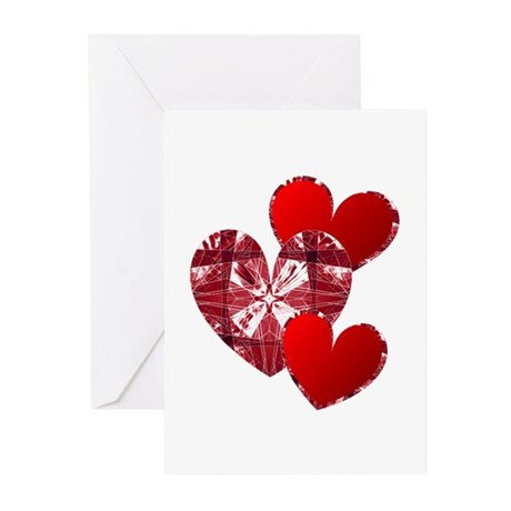 Country Hearts Greeting Cards (Pk of 10)