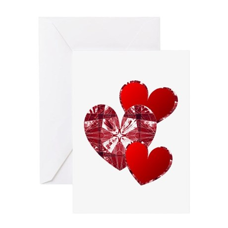 Country Hearts Greeting Card