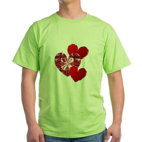 Country Hearts Green T-Shirt