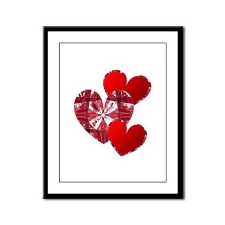 Country Hearts Framed Panel Print