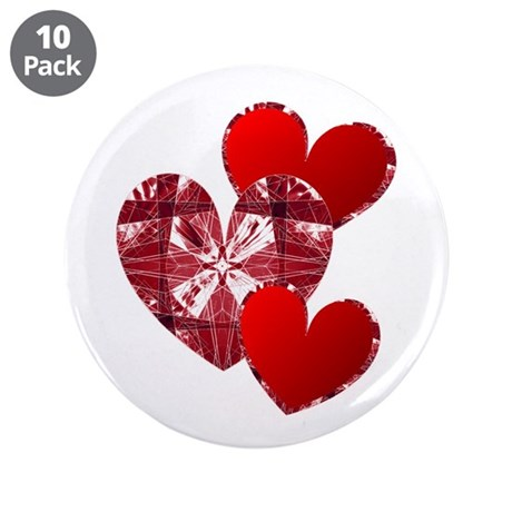 "Country Hearts 3.5"" Button (10 pack)"