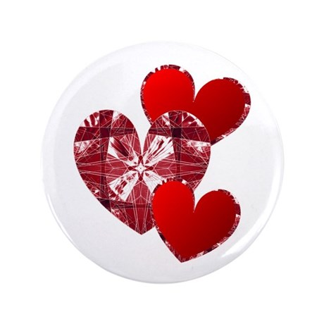 "Country Hearts 3.5"" Button (100 pack)"