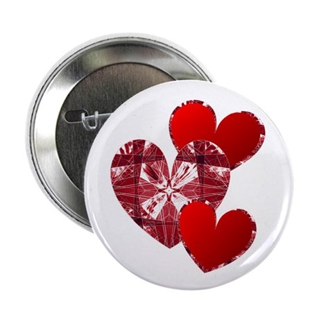 "Country Hearts 2.25"" Button (100 pack)"