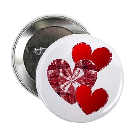 "Country Hearts 2.25"" Button"