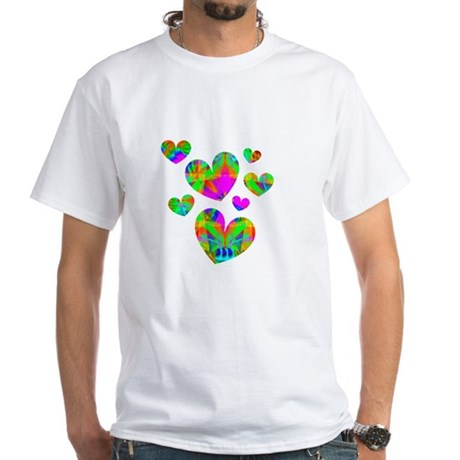 Kaleidoscope Hearts White T-Shirt