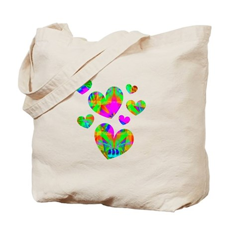 Kaleidoscope Hearts Tote Bag