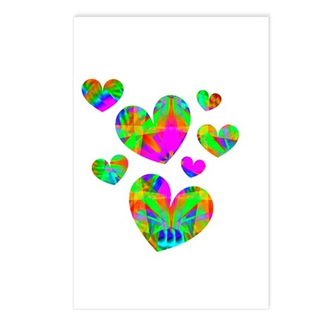 Kaleidoscope Hearts Postcards (Package of 8)