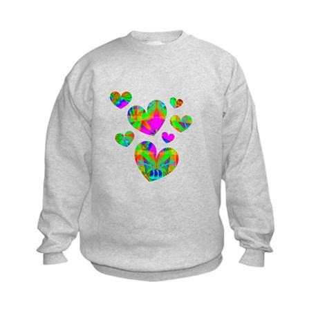 Kaleidoscope Hearts Kids Sweatshirt
