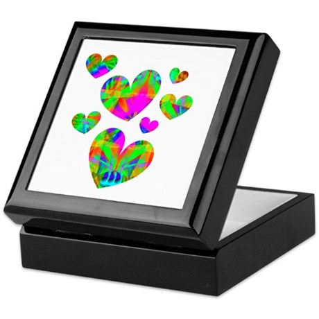 Kaleidoscope Hearts Keepsake Box