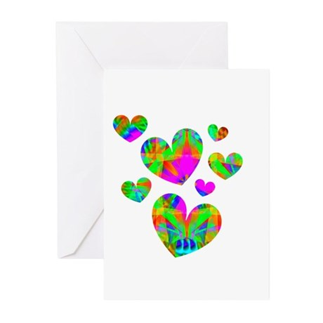 Kaleidoscope Hearts Greeting Cards (Pk of 10)