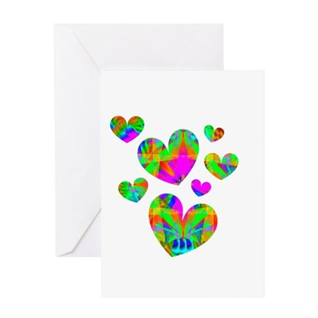 Kaleidoscope Hearts Greeting Card