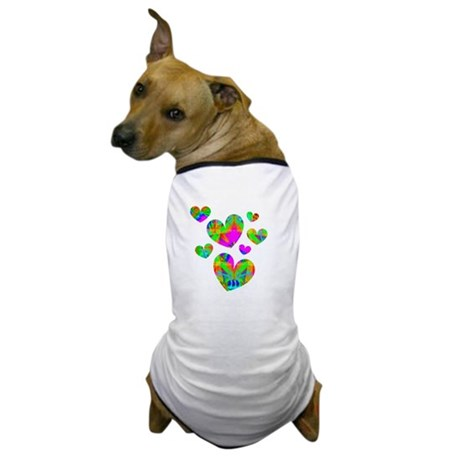 Kaleidoscope Hearts Dog T-Shirt