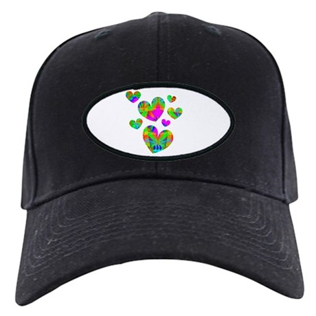 Kaleidoscope Hearts Black Cap