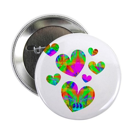 "Kaleidoscope Hearts 2.25"" Button (100 pack)"