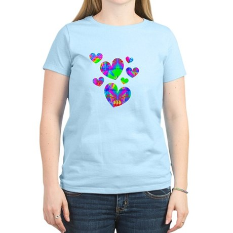 Kaleidoscope Hearts Women's Light T-Shirt
