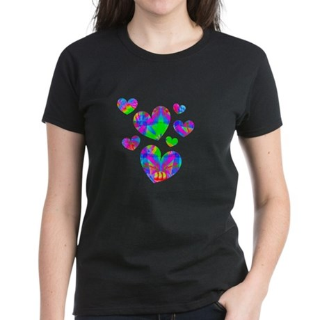 Kaleidoscope Hearts Women's Dark T-Shirt