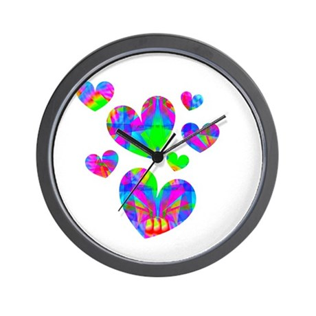 Kaleidoscope Hearts Wall Clock