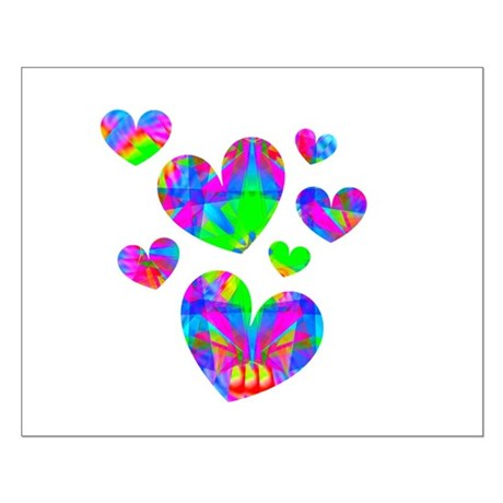 Kaleidoscope Hearts Small Poster
