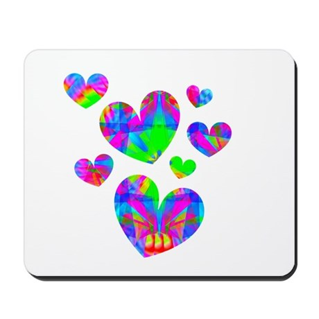 Kaleidoscope Hearts Mousepad