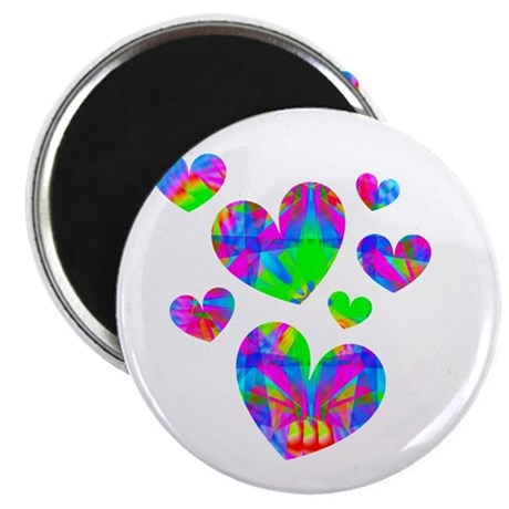 "Kaleidoscope Hearts 2.25"" Magnet (100 pack)"