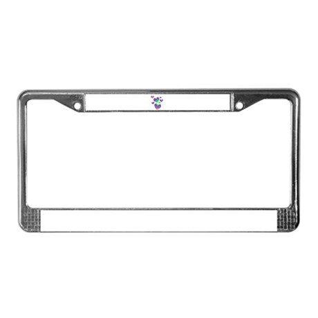 Kaleidoscope Hearts License Plate Frame