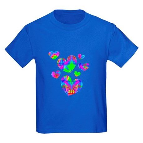 Kaleidoscope Hearts Kids Dark T-Shirt